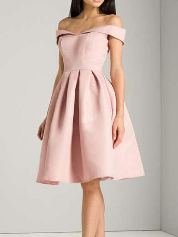 Off Shoulder Pink Cheap Homecoming Dresses Under 100, CM401