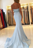 Strapless Sweetheart Mermaid Prom Dresses with Beaded Bodice Evening Dress,PDY0242