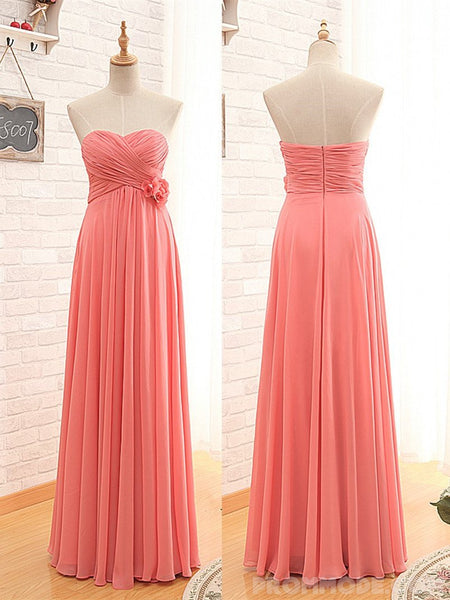 Sweetheart Chiffon Princess Bridesmaid Dress, Pegeant Classic Dress with Pleats, EPR320