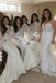Elegant Mermaid High Neck Ivory Long Sleeves Stain Lace Bridesmaid Dresses,WGY0178