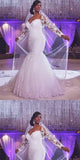 Attractive Tulle & Lace Mermaid Wedding Dress With Lace Appliques ,WDY0180