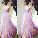 Beautiful Floor-length A Line Tulle Elegant Beading Prom Dress ,Evening Party Dresses,PDY0260