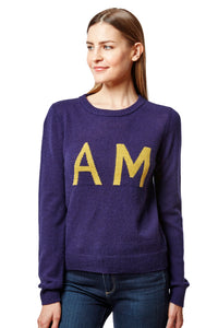 am / pm intarsia crew neck