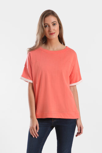 seamed boxy top