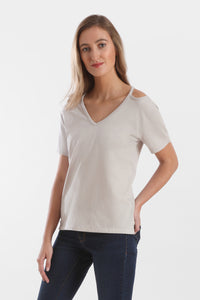cut out v neck