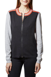 sporty zip front jacket