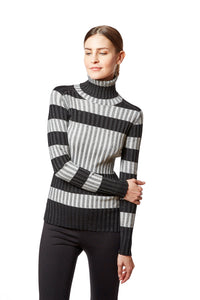 stripe t neck