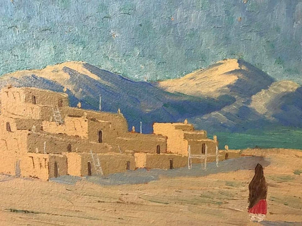 Taos Pueblo by Albert Looking Elk Martinez