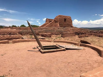 A photo I took at Pecos Pueblo of a kiva next to the site's ruined church