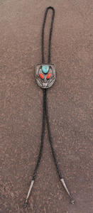 Vintage Coral and Turquoise Bolo Tie