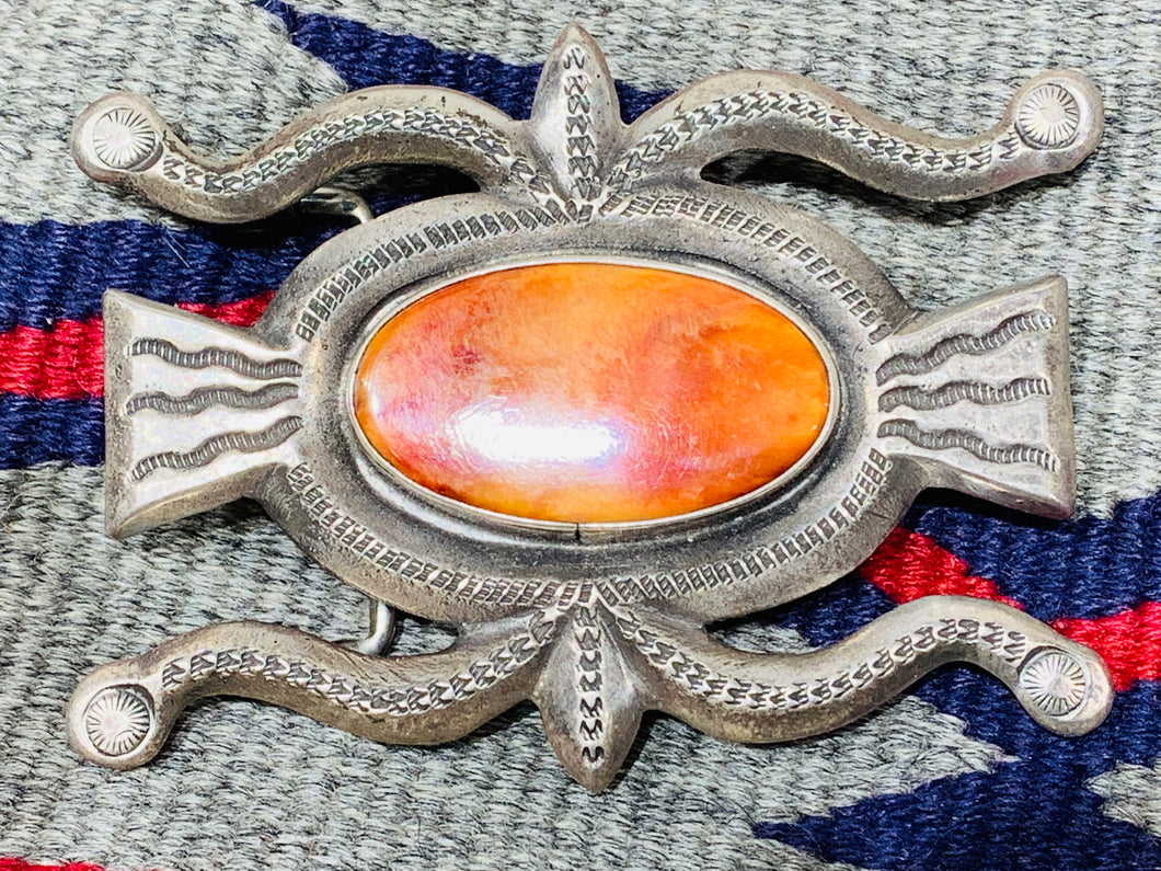 Belt Buckle with Spiny Oyster
