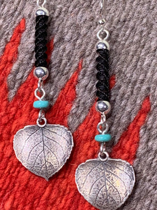 Turquoise and Horsehair Earrings