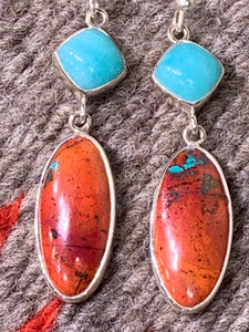 Amazonite and Sonoran Sunset Earrings