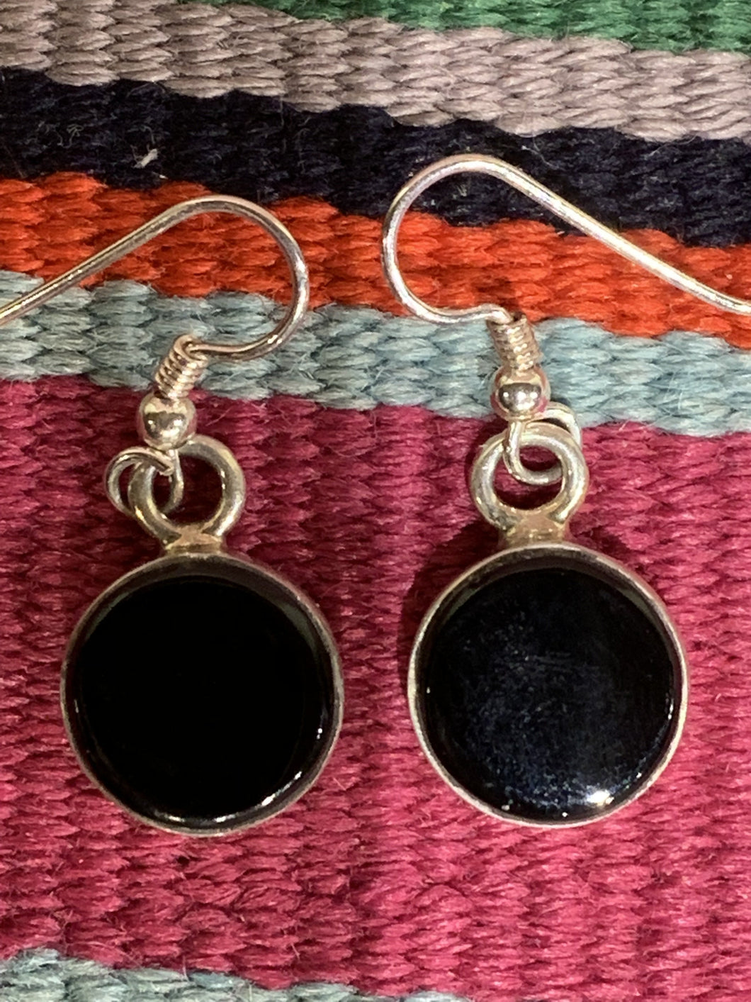 Black Jade Earrings by the Dukepoo's