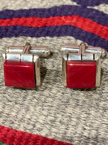 Silver and Rosarita Cufflinks