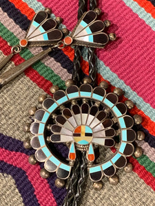 Vintage Sunface Bolo With Headdress