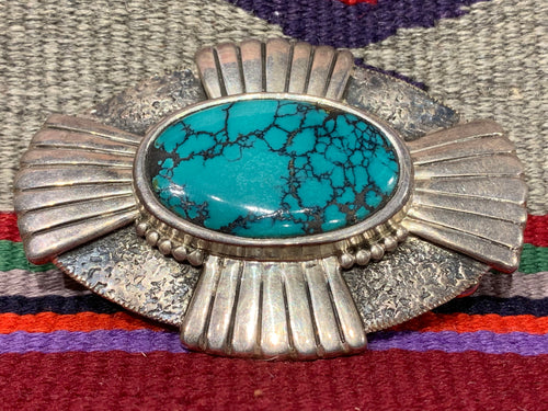 Silver and Turquoise Buckle