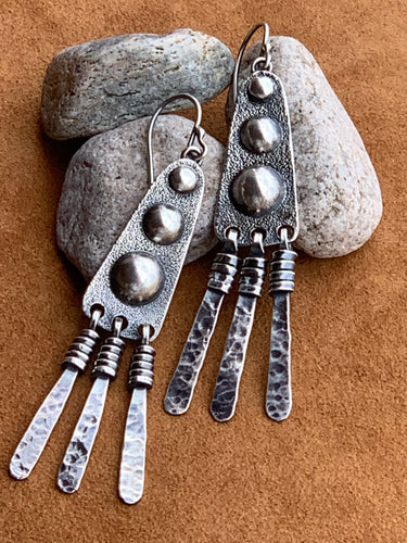 Millicent's Zuni-inspired Earrings by David Anderson of Taos