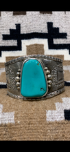 Ingot Silver and Turquoise Bracelet
