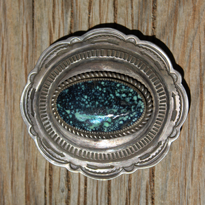 Turquoise Belt Buckle by Tom deWitt
