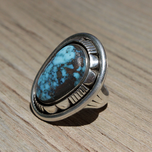 Willie Family Ring with Morenci Turquoise