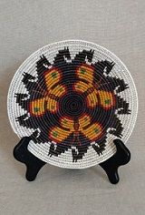 Contemporary Navajo Decorative Basket