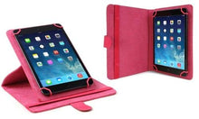 "ONTEK Universal 7""-8"" Folio Tablet Case and Stand with Swivel Grip - Pink"
