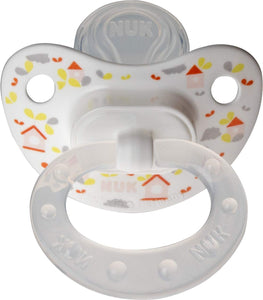 Nuk Orthodontic Trendline BPA Free 18+ Months Dots Pacifiers (2pack) (Orange)