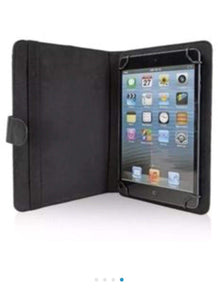 "OnTek Universal 7""–8"" Folio Tablet Case and Stand with Swivel Grip, Black"