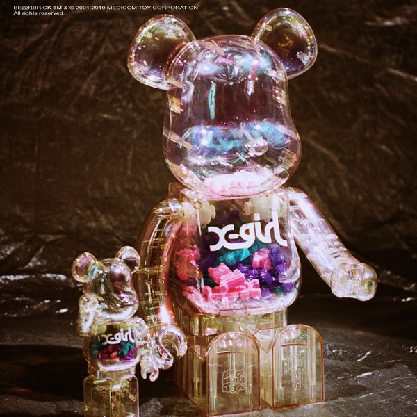 X girl × BE@RBRICK collaboration