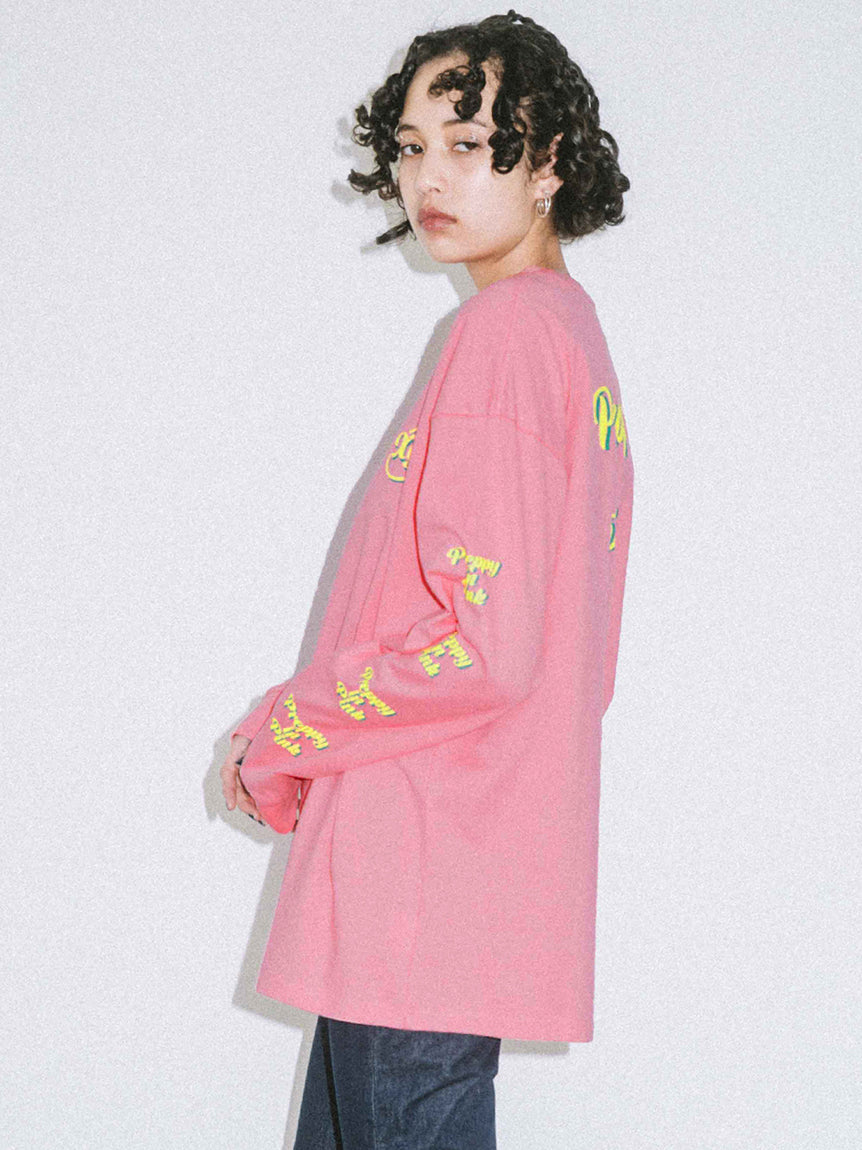 PREPPY IN PINK L/S BIG TEE
