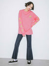 PREPPY IN PINK L/S BIG TEE, T-SHIRTS, X-Girl