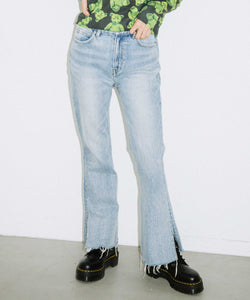 HIGH WAISTED FLARE DENIM, PANTS, X-Girl
