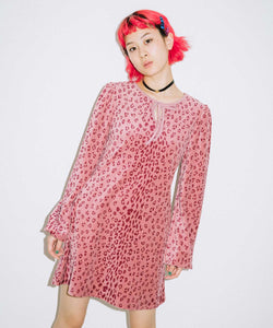 LEOPARD PUFF SLEEVE DRESS, DRESS, X-Girl