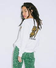 Load image into Gallery viewer, #1 LEOPARD LOGO L/S REGULAR TEE, T-SHIRT, X-Girl