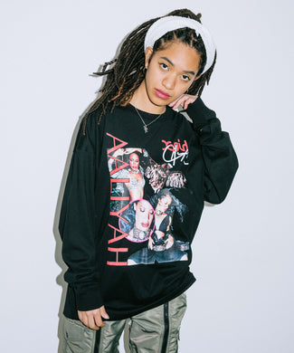 X-girl × AALIYAH L/S TEE, T-SHIRTS, X-Girl