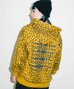 #1 LEOPARD SWEAT HOODIE, HOODIES & SWEATERS, X-Girl