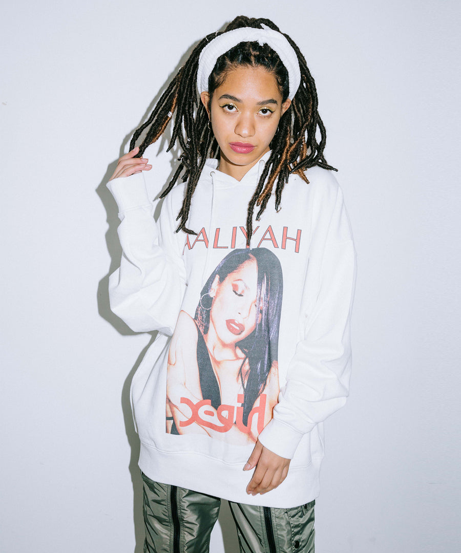 X-girl × AALIYAH SWEAT HOODIE, HOODIES & SWEATERS, X-Girl