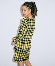 Load image into Gallery viewer, SHAGGY PLAID SHIRRED DRESS, DRESSES, X-Girl