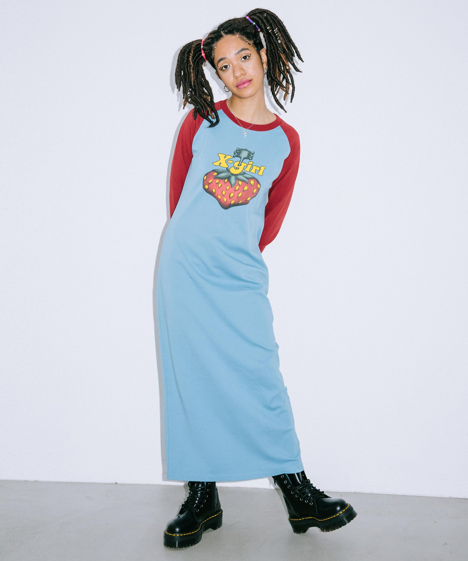 X-girl × HYSTERIC GLAMOUR BERRY DRESS, DRESSES, X-Girl