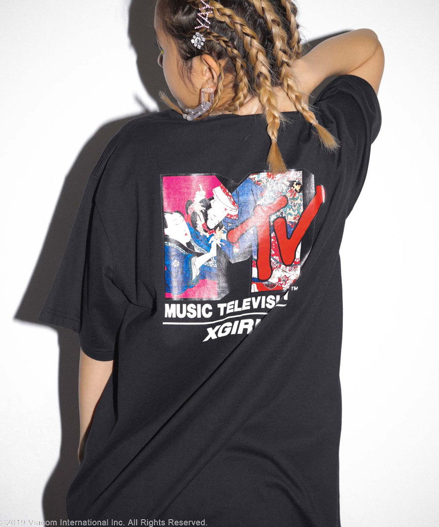 X-girl x MTV S/S MENS TEE