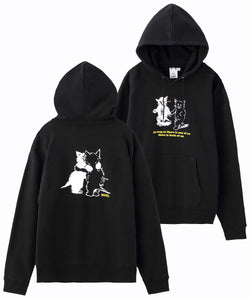 CATS SWEAT HOODIE, HOODIES & SWEATERS, X-Girl