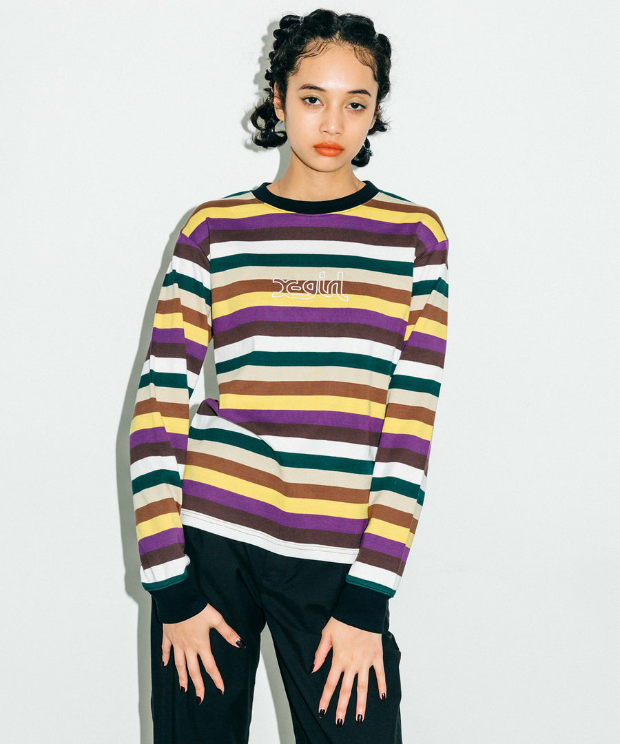 MULTI STRIPE TOP, T-SHIRTS, X-Girl