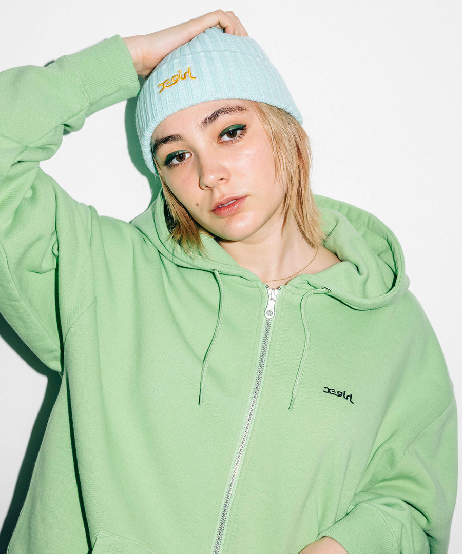 BOX LOGO ZIP SWEAT HOODIE, HOODIES & SWEATERS, X-Girl
