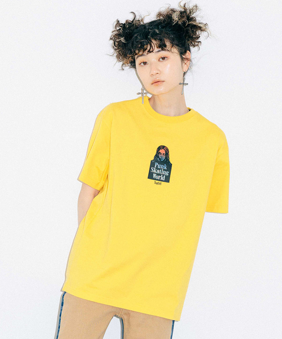 GRADATION FACE S/S TEE, T-SHIRTS, X-Girl