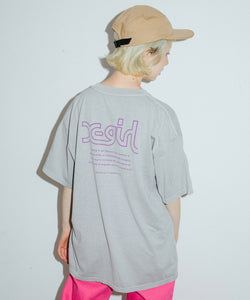 WORDS LOGO PIGMENT DYED S/S MENS TEE, T-SHIRTS, X-Girl