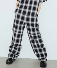 Load image into Gallery viewer, OMBRE PLAID WIDE LEG PANTS, PANTS, X-Girl
