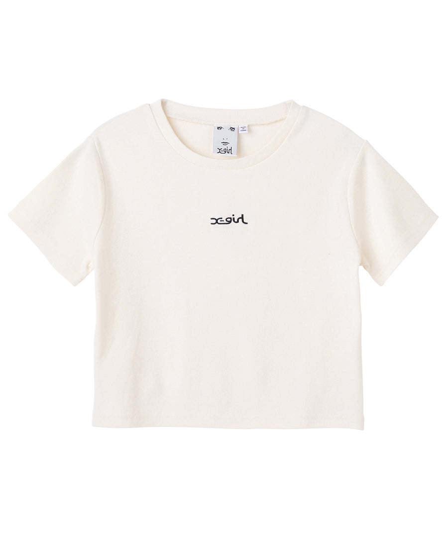 EMBROIDERED MILLS LOGO S/S BABY TEE