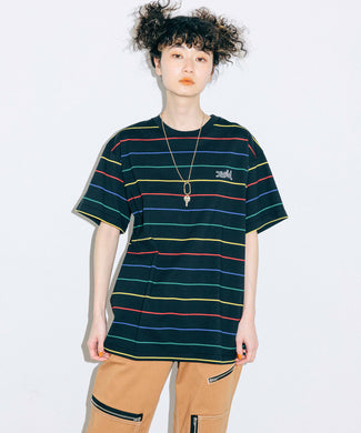 MULTI STRIPED H/S TEE, T-SHIRTS, X-Girl