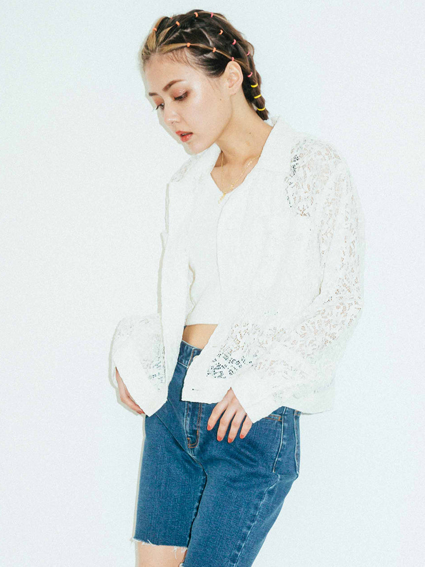 LACE SHIRT JACKET